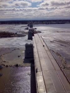 Мостовой переход через реку Надым готов к прохождению весеннего паводка