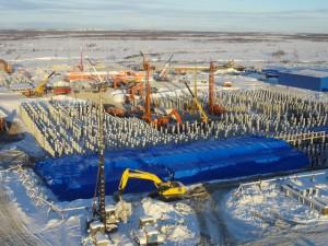 Возведение ТЭС Полярная ведется в круглосуточном режиме (ФОТОРЕПОРТАЖ с площадки строительства)
